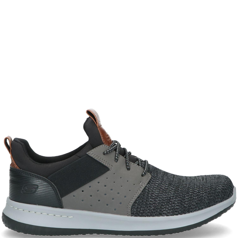 Skechers Classic Fit Sneaker Heren Grijs-Zwart