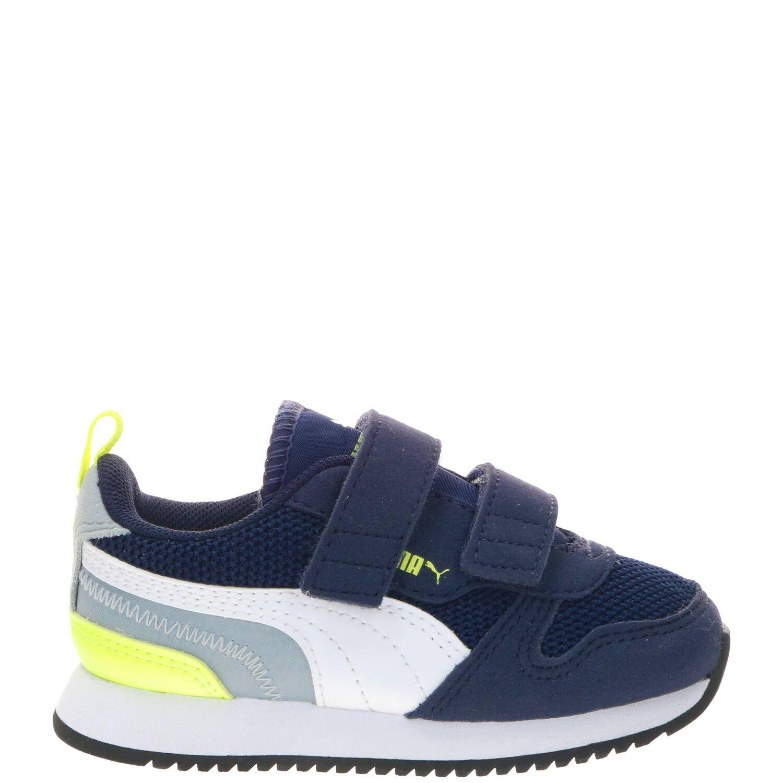 Puma R78 V Inf sneakers donkerblauw/geel/grijs online kopen