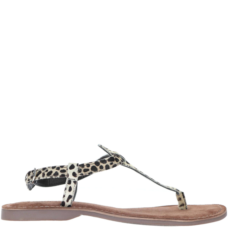 Lazamani 75.611 leren sandalen met panterprint online kopen