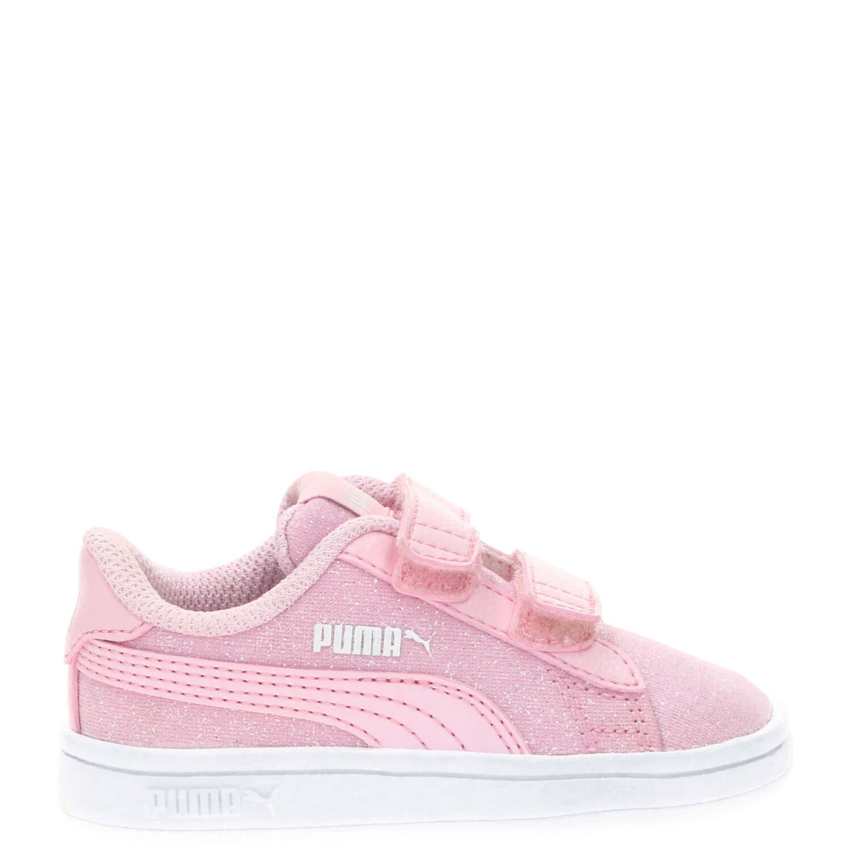 Puma Smash V2 Glitz&Glam Sneaker  Roze