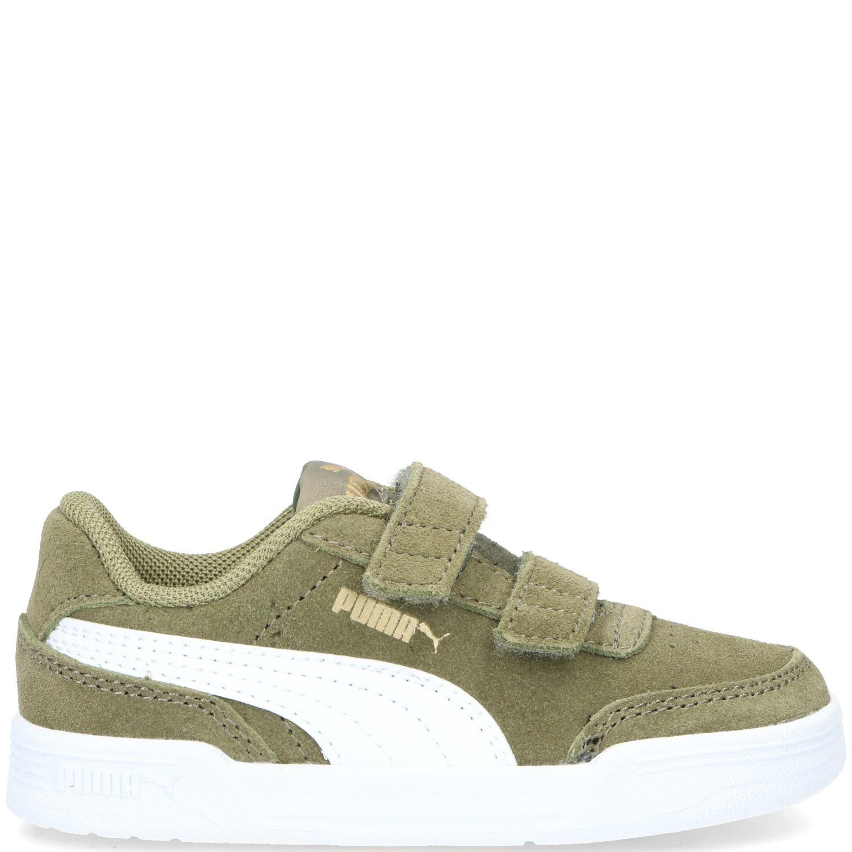 Puma Vista V Sneaker Jongens Groen-Kahki