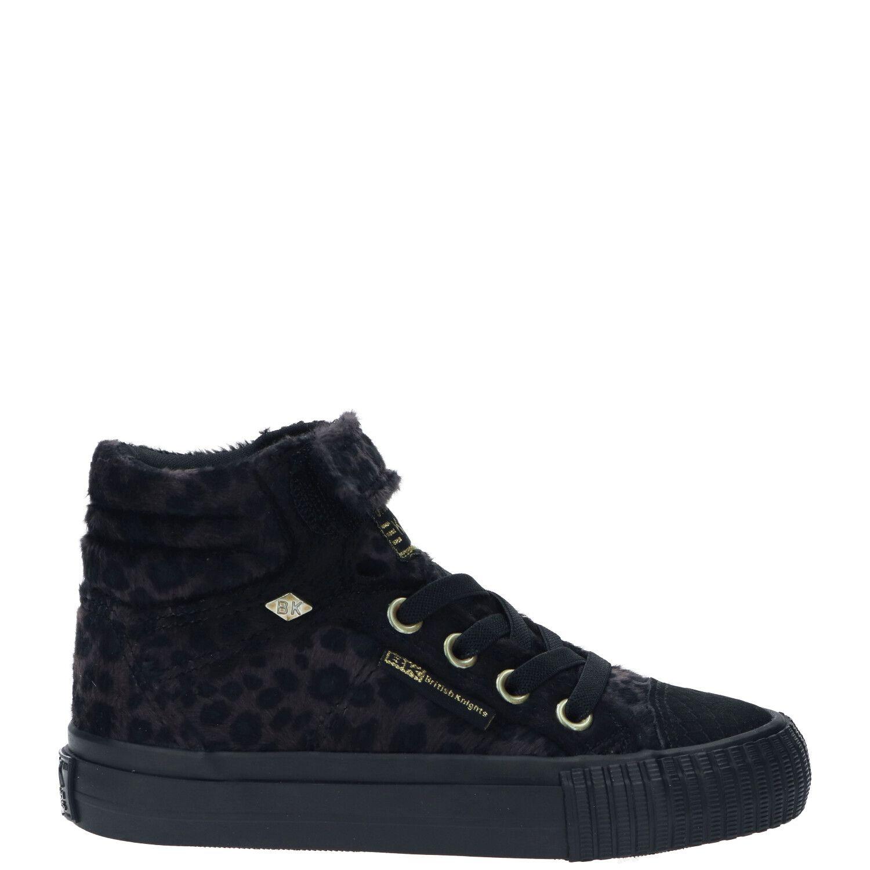 British Knights Dee hoge sneakers met panterprint zwart/bruin online kopen