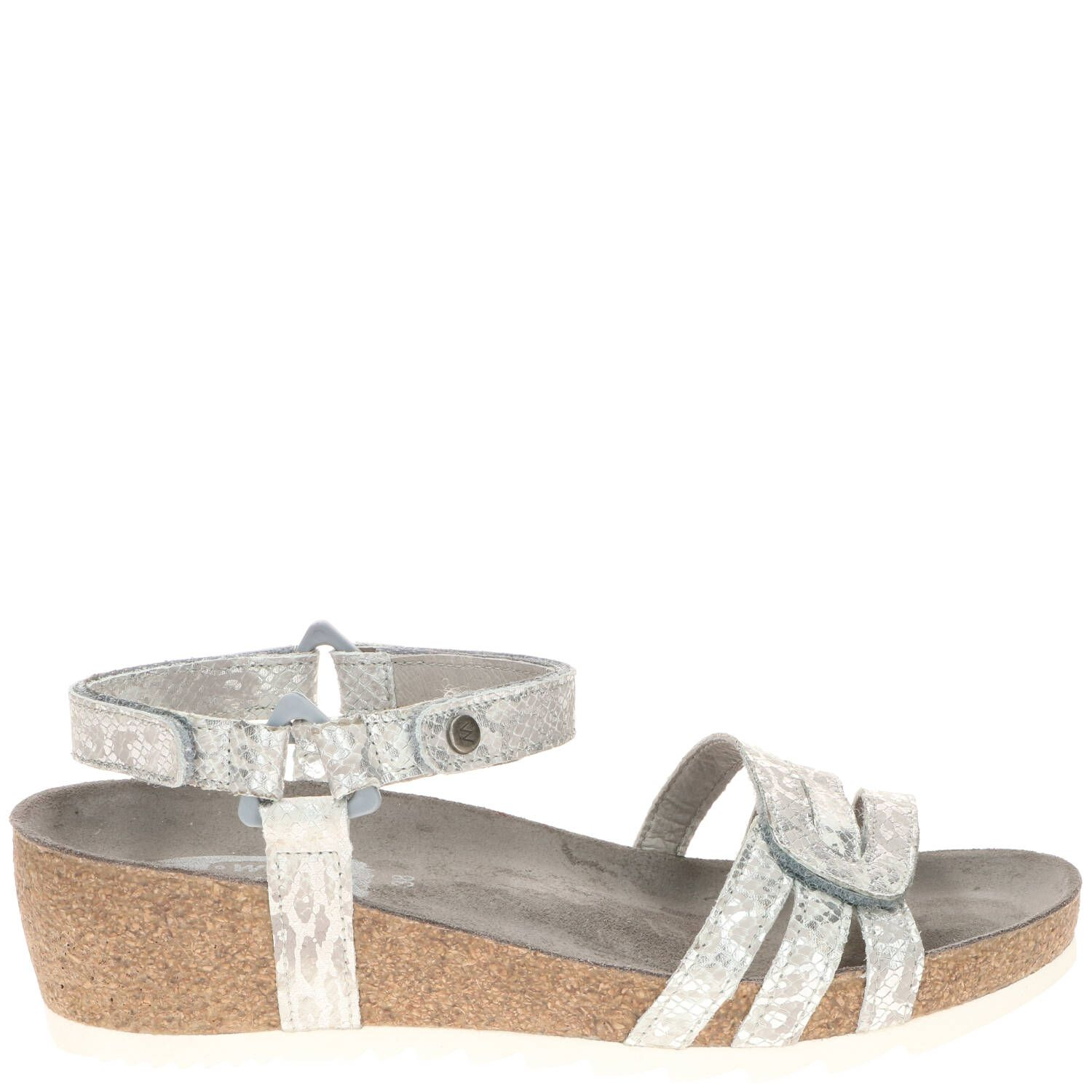 Wolky Pacific Comfort Sandaal Dames Zilver