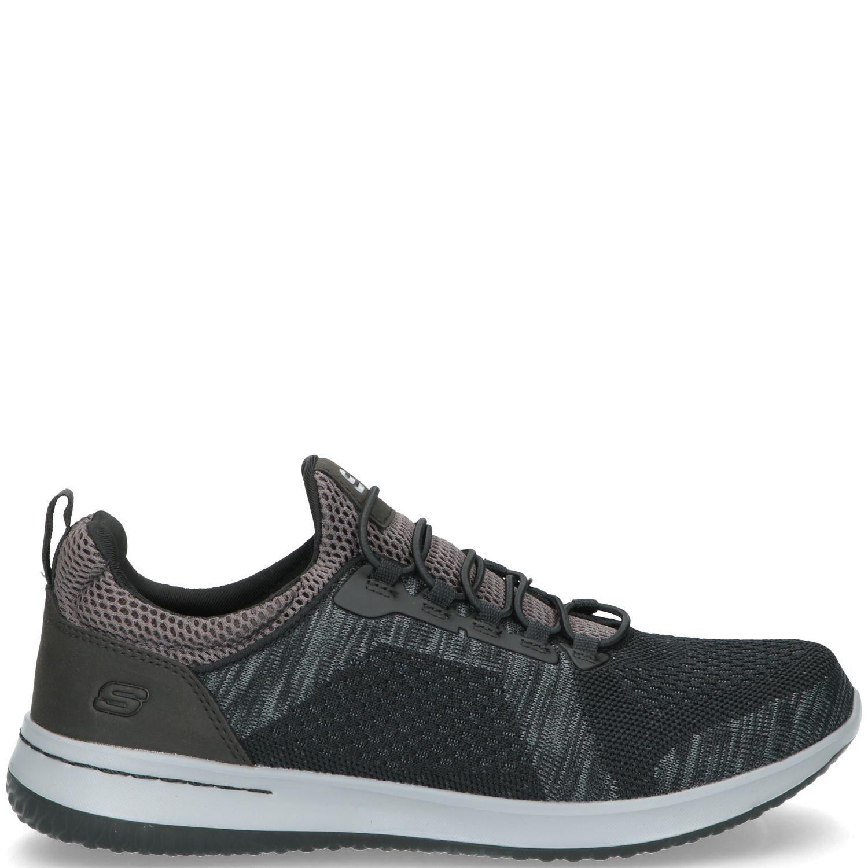 Skechers Delson Brewton Sneaker Heren Zwart