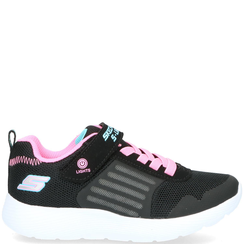 Skechers S-Lights Klittenbandschoen Meisjes Roze-Zwart