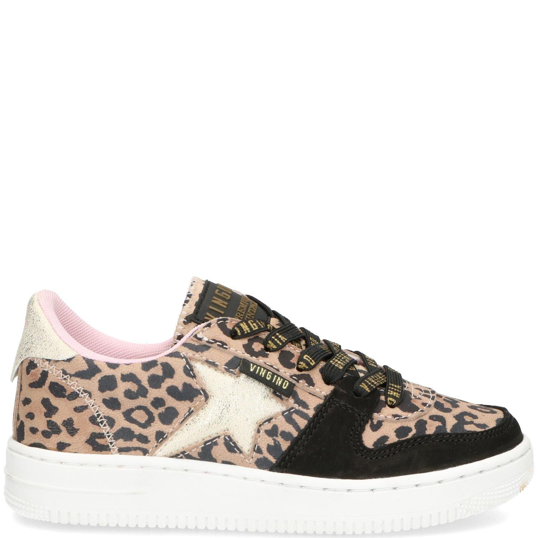 Vingino Lotte Low Sneaker Bruin-Beige