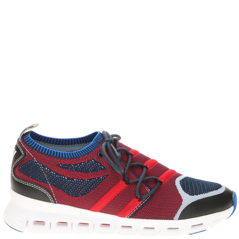 Wolky Nero 3-D Comfort Sneaker Dames Blauw-Multi-Rood