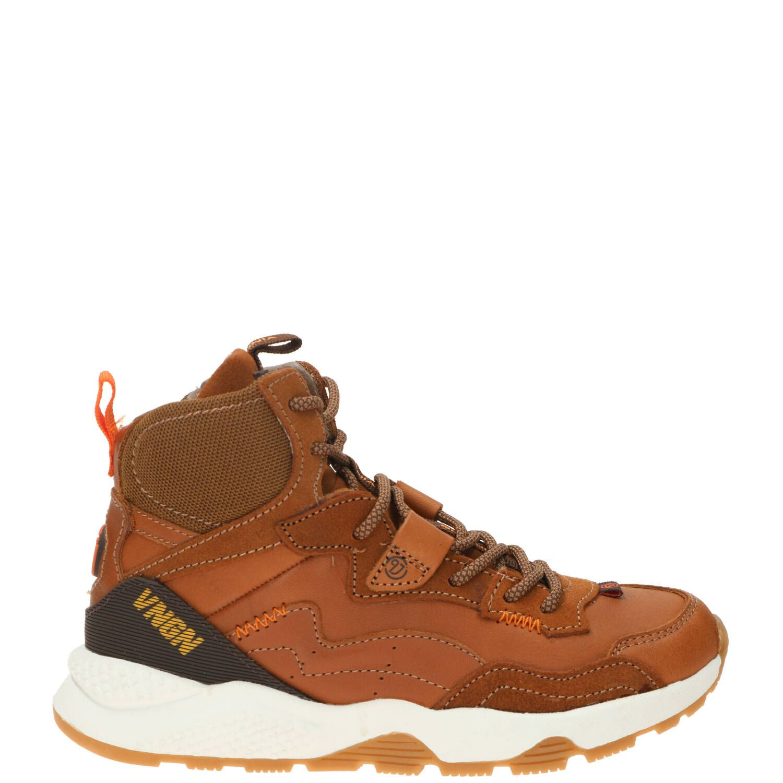 Vingino Gio Mid Sneaker Bruin-Cognac
