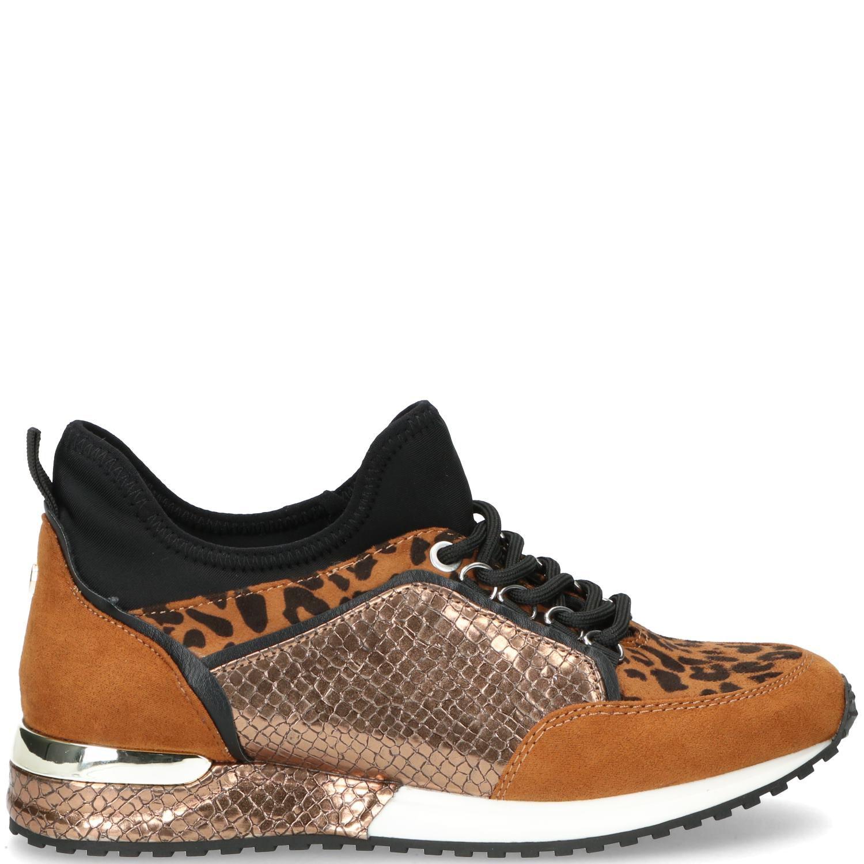 La Strada Sneaker Dames Brons-Bruin-Cognac-Multi-Zwart