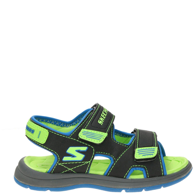 Skechers Sport Sandaal Jongens Grijs-Groen