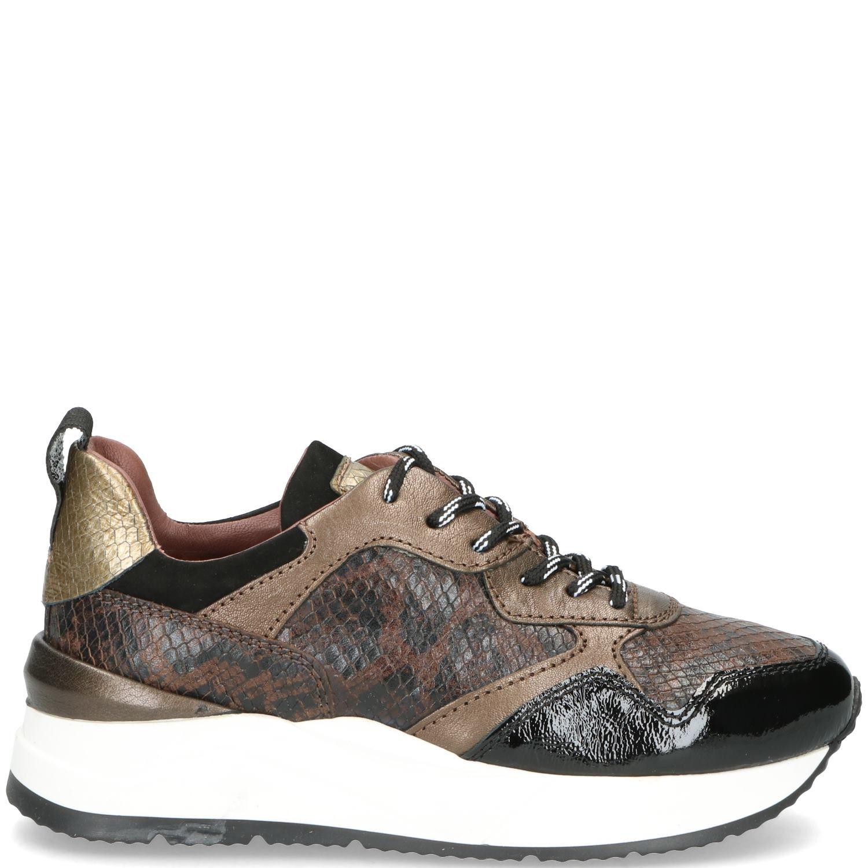 Mjus Sneaker Dames Bruin-Metallic-Multi-Zwart