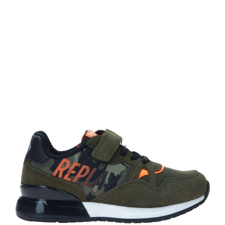 REPLAY Blazen sneakers met camouflageprint groen online kopen