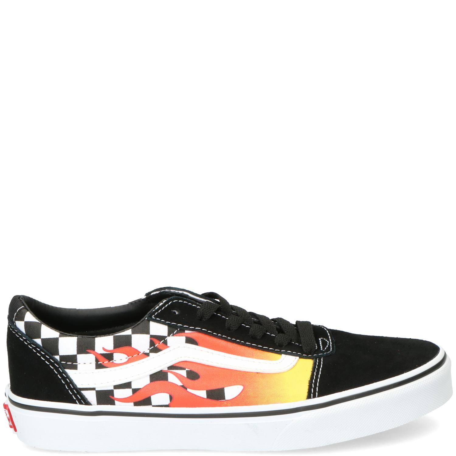 Vans Checker Veterschoen Jongens Zwart