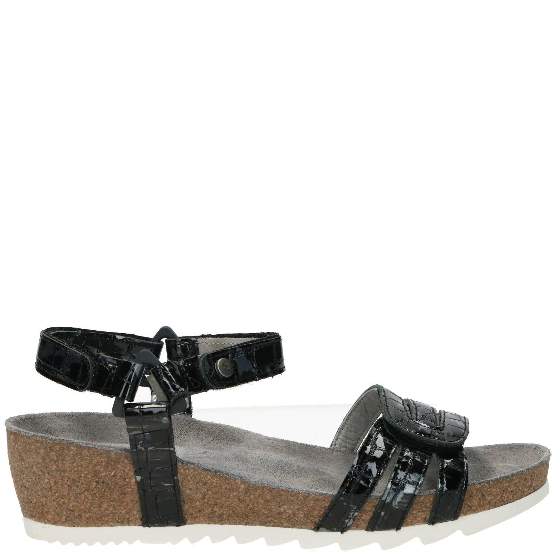 Wolky Pacific Comfort Sandaal Dames Grijs-Zwart