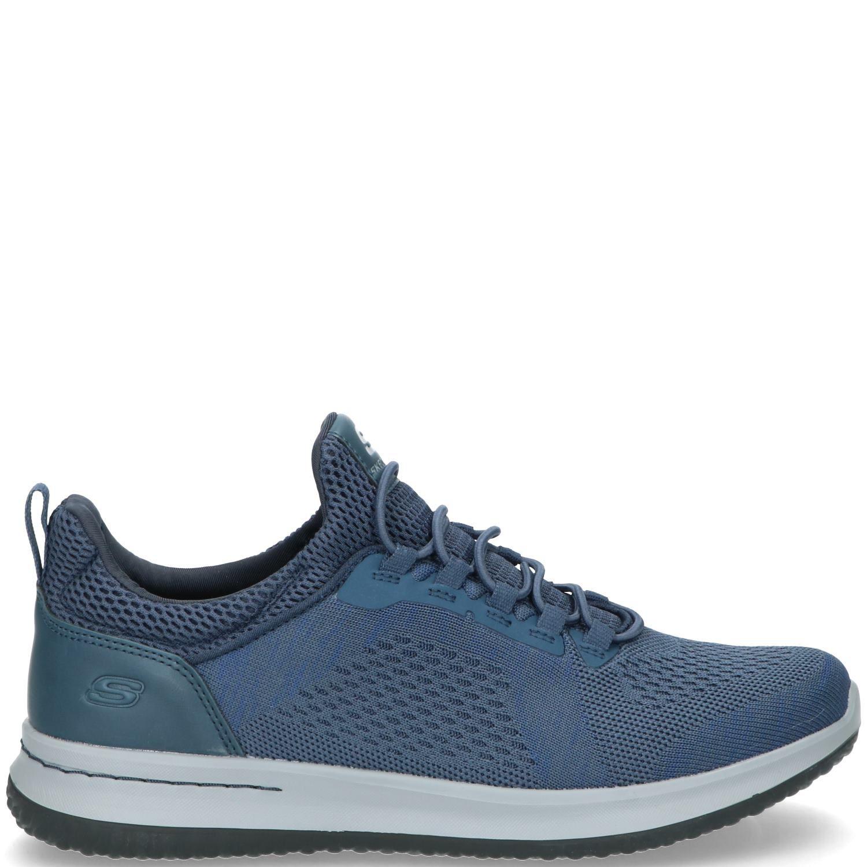 Skechers Delson Brewton Sneaker Heren Blauw
