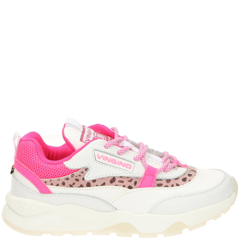 Vingino Marta Sneaker Meisjes Roze-Wit