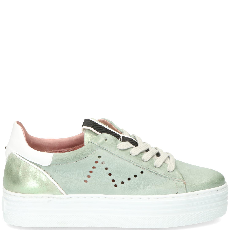 Mjus Sneaker Dames Groen-Wit