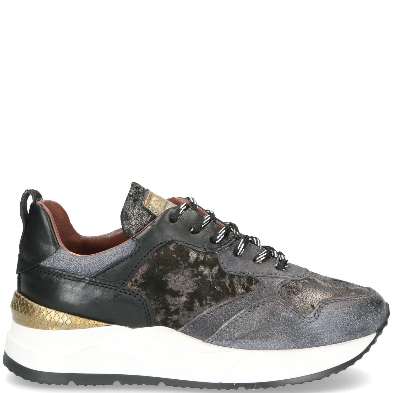 Mjus Sneaker Dames Grijs-Multi-Zwart