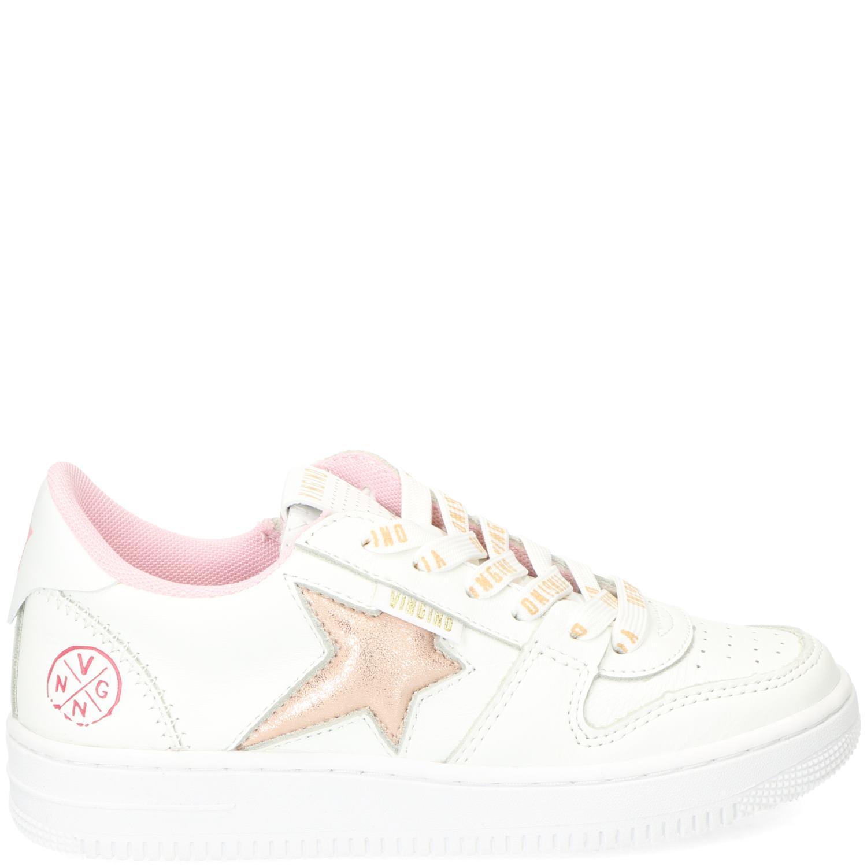 pretty nice b4f37 ac4bd Vingino lotte sneaker in het wit met goud roze. deze schoenen hebben een  bovenwerk